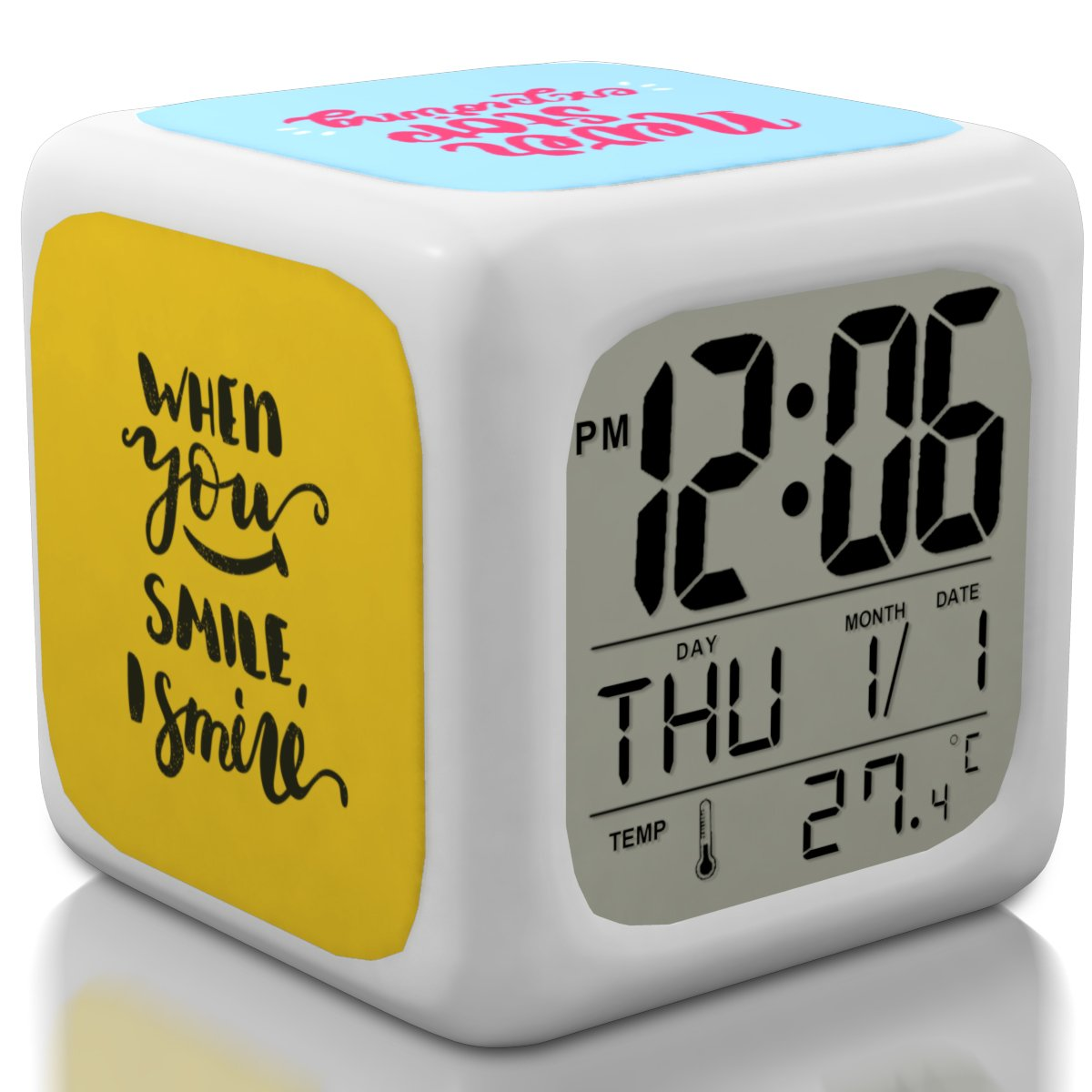Alarm Clock for Kids and Teen Bedroom, Boys or Girls, Heavy Sleepers. Cool and Cute Bedside Digital Display Small Clocks for Travel and Kid Bedrooms (New 2018 Edition) PLB