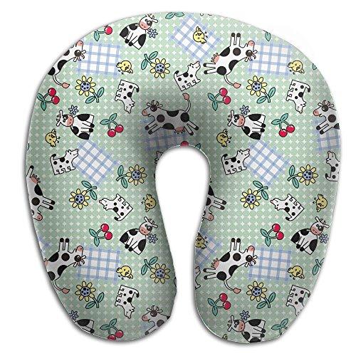 Owen Pullman Travel Pillow Cute Puppy Dog Memory Foam Neck Pillow Comfortable U Shaped Neck Support Plane Pillow]()