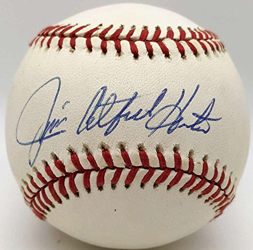 Jim Catfish Hunter Autographed Ball - OAL BAS Beckett - Beckett Authentication - Autographed Baseballs (Oal Ball Baseball)