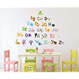 Solimo Wall Sticker for Kid's Room (Play & Learn, Ideal Size on Wall - 140 cm x 100 cm)