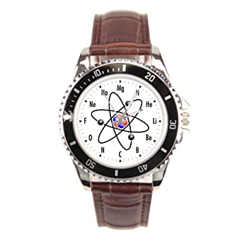 Dream Stage Chemie Best Armbanduhr Geek Braun Leder Herren