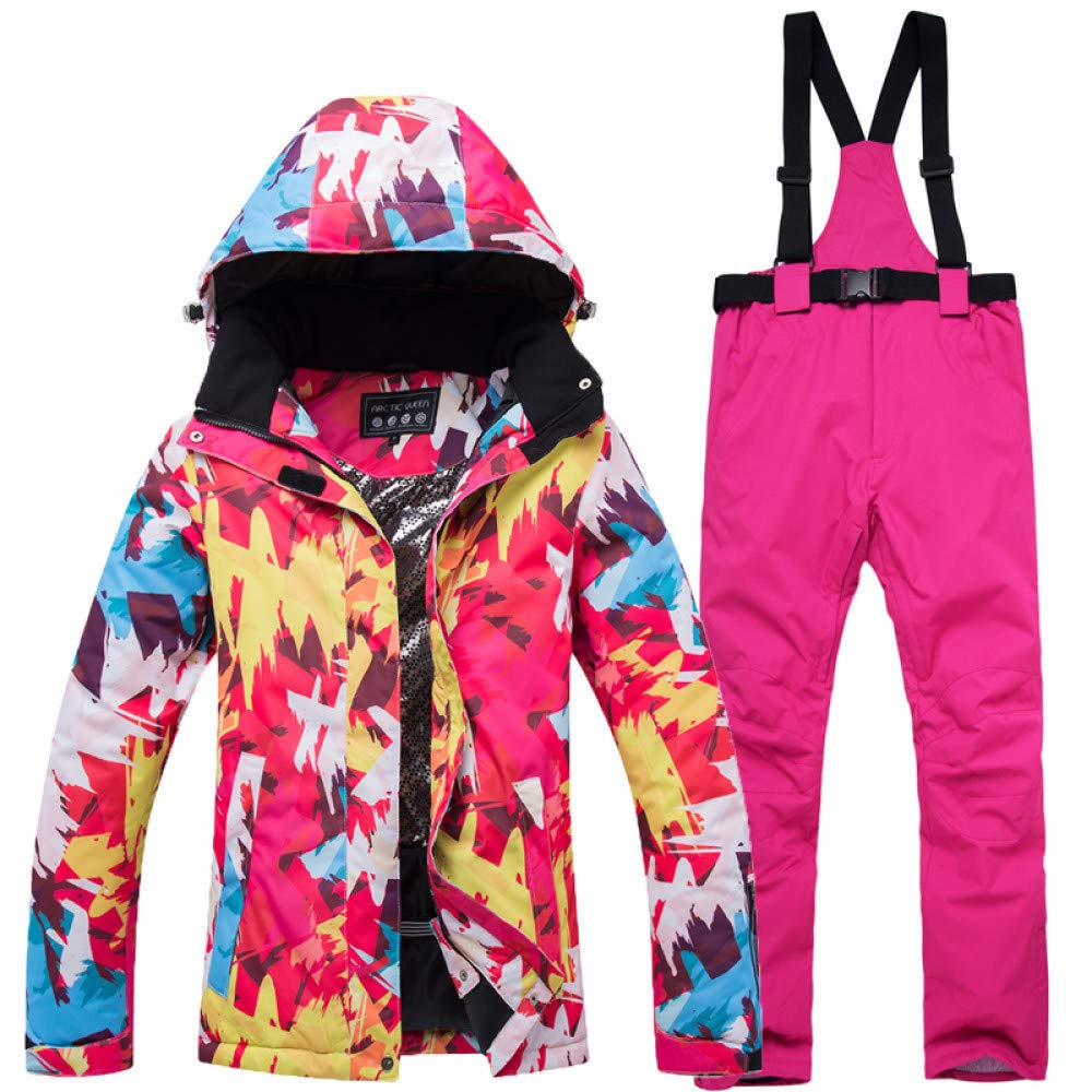 7 Small Zjsjacket ski Suit Women's Ski Suit High Quality 10000mm Waterpoof Female Ski Jacket and Pant Suit Thermal Women Snow Sports Clothes