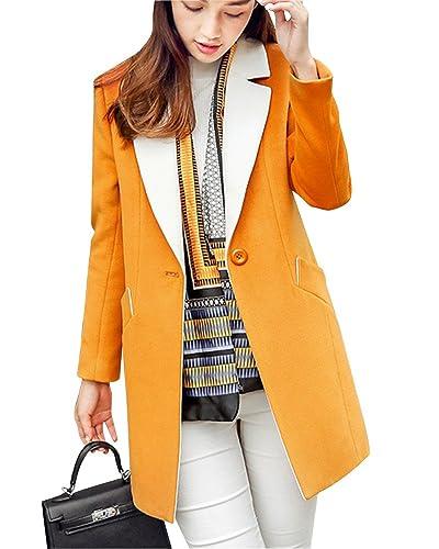 Mujer Invierno Collar De Traje A Línea Outcoat Abrigo Chaqueta Calor Parkas