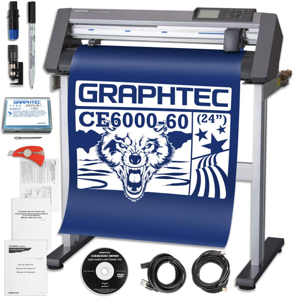 Graphtec Plus CE6000-60 24 Inch Professional Vinyl Cutter with Bonus $700 in Software and 2 Year Warranty by Graphtec