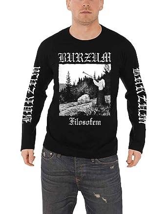65a4025d9 Amazon.com: Burzum T Shirt Filosofem 2018 Band Logo Official Mens Black  Long Sleeve: Clothing