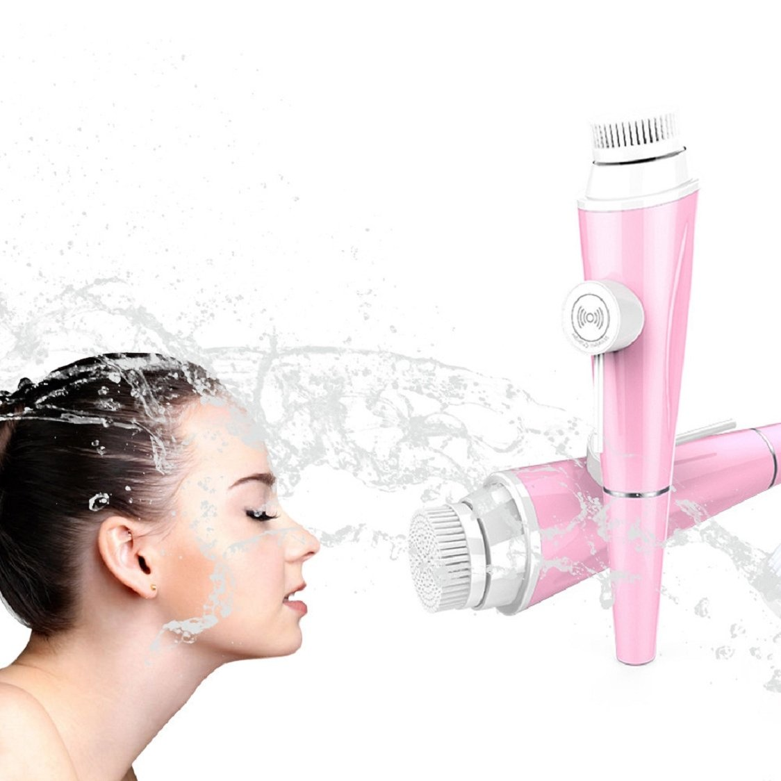 Hot Sale ! Sunfei Electric Cleaning Face Brush (Pink)