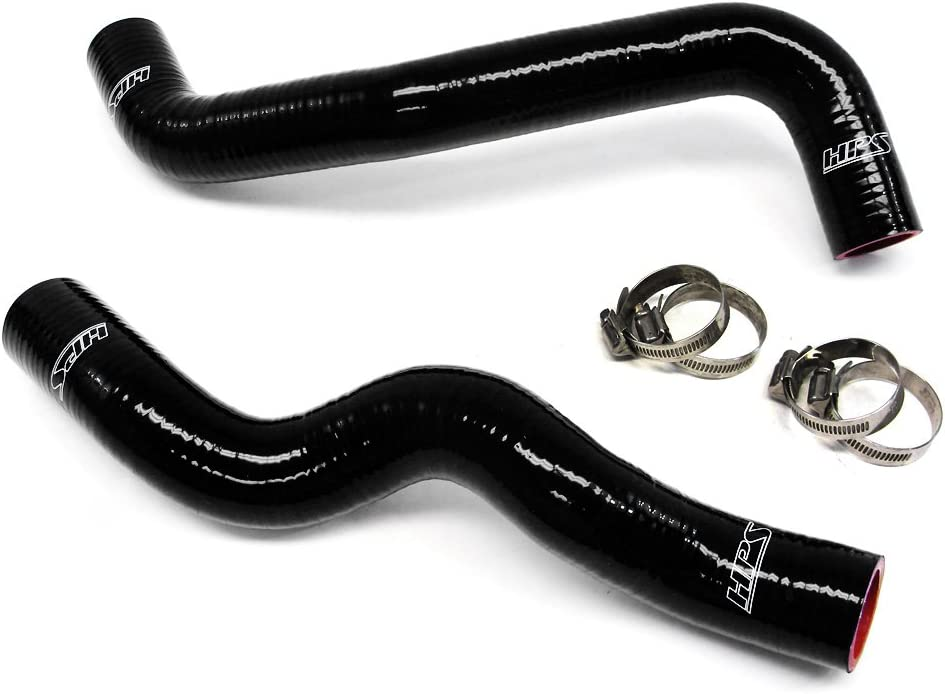 HPS 57-1049-BLK-2 Black Silicone Radiator Coolant Hose Kit