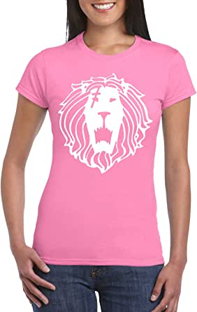 Pink Female Gildan Short Sleeve T-Shirt - Escanors lion design