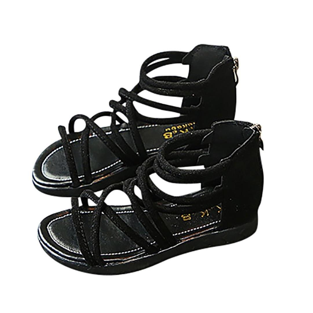 Voberry/® B/éb/é Filles Chaussures D/Ét/é Mode Sneaker Sandales de Plage en Cuir Solide /à Fermeture /à Glissi/ère