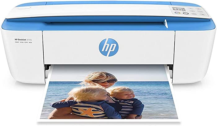 HP DeskJet 3755 Compact All-in-One Wireless Printer, HP Instant Ink or Amazon Dash replenishment ready - Blue Accent (J9V90A)