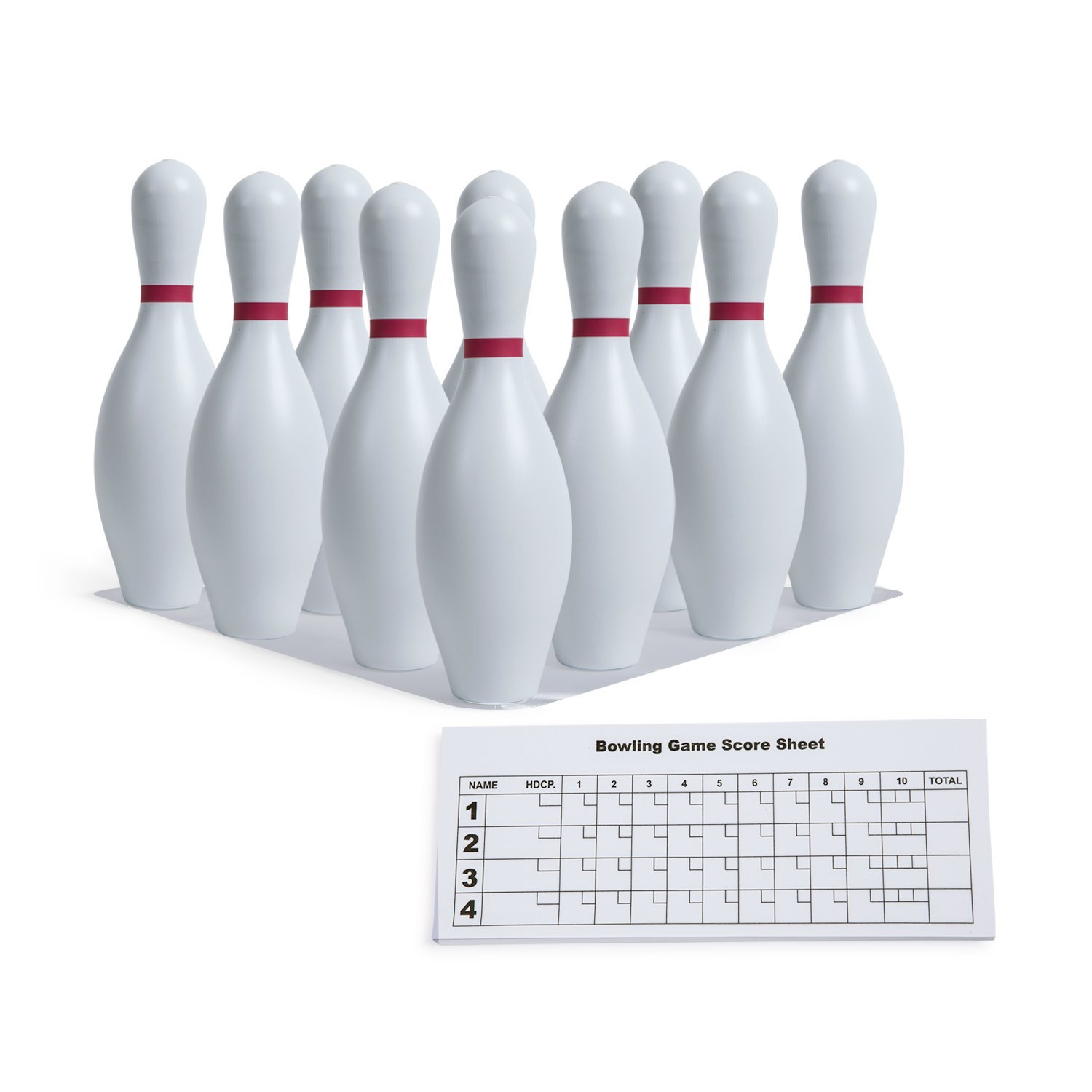 Champion Sports Plastic Bowling Pins: Set for Training & Kids Games by Champion Sports