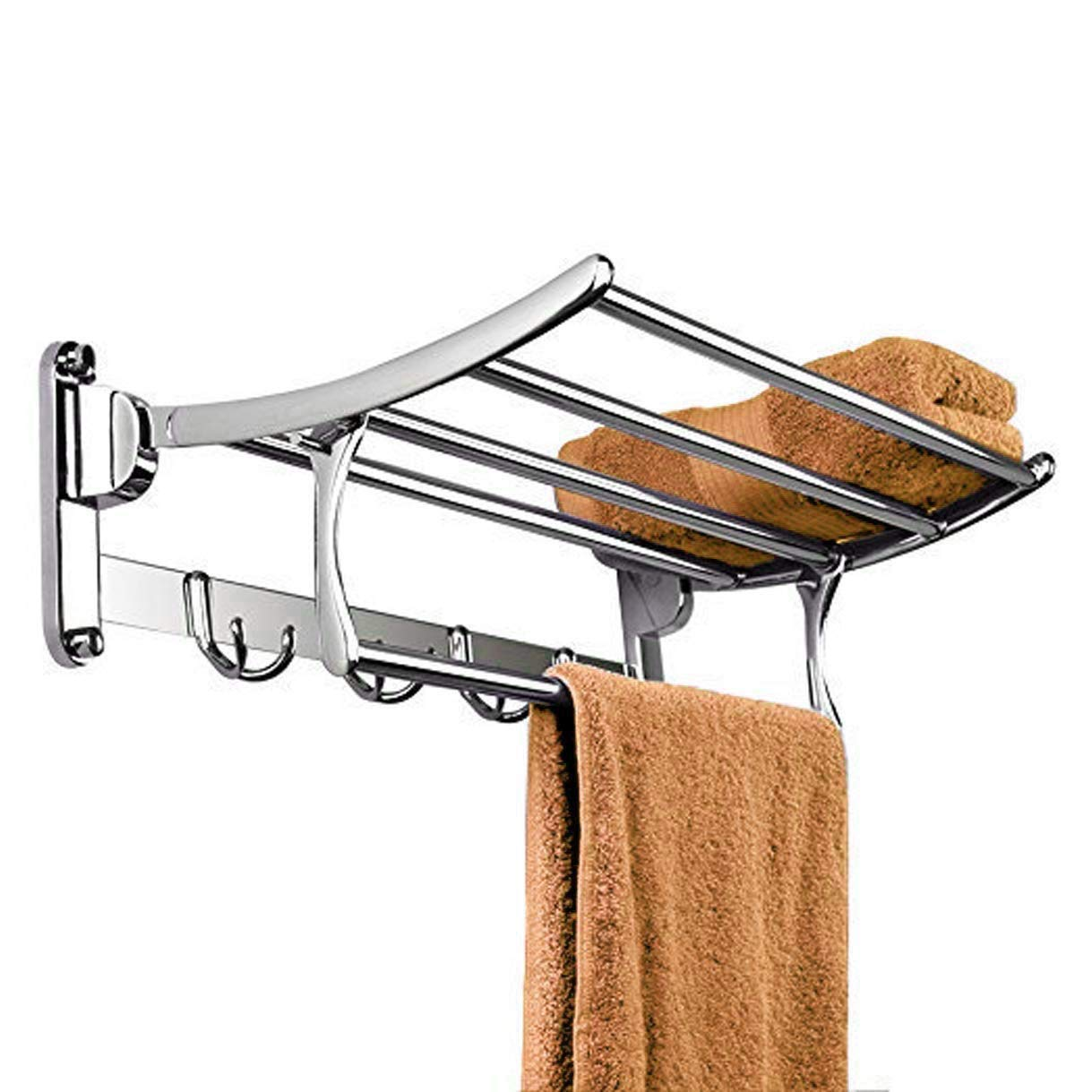Classic High Grade Stainless Steel Folding Towel Rack (18 Inches)