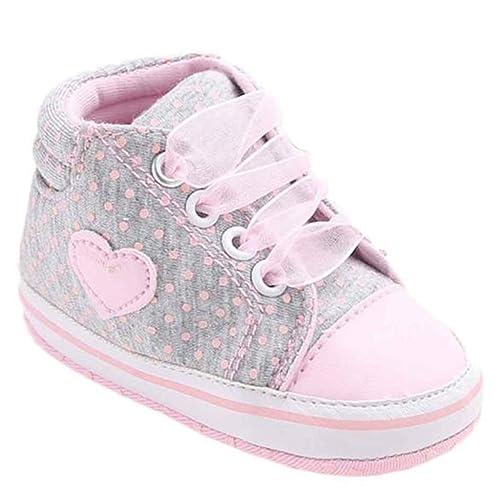 OHQ Zapatillas De Deporte Zapato De Lona NiñA En Forma De CorazóN Zapatos Zapatilla De Deporte Antideslizante Suela Suave para NiñOs: Amazon.es: Zapatos y ...