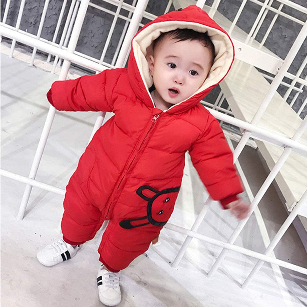 M/&A Toddler Baby Winter Coat Snowsuit Romper Hooded Puffer Jacket Jumpsuit