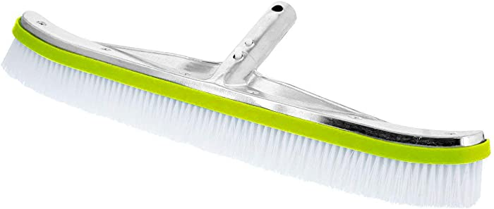 "POOLWHALE 18"" Heavy Duty Nylon Swimming Pool Brush - Extra Wide"