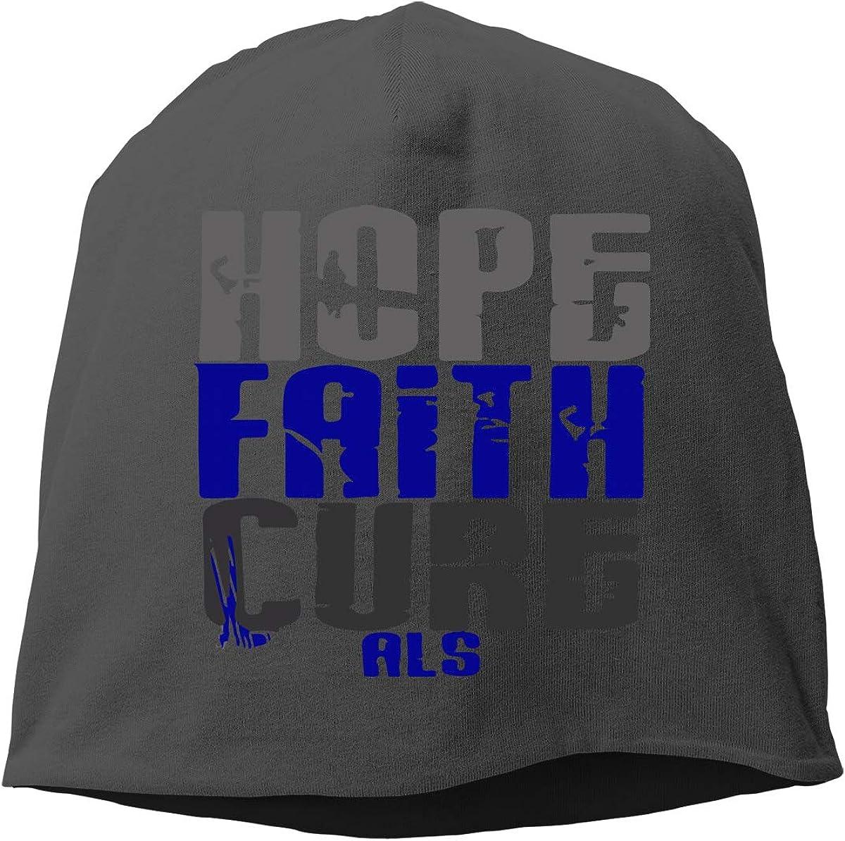 SHA45TM Hope for A Cure ALS Men Women Winter Skull Cap Cycling Beanie Hat