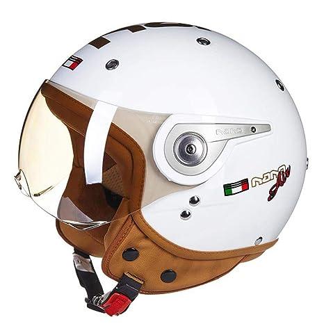 1-1 Calentar Medio Cascos Moto Anti-Ultravioleta Anti Niebla Retro ...