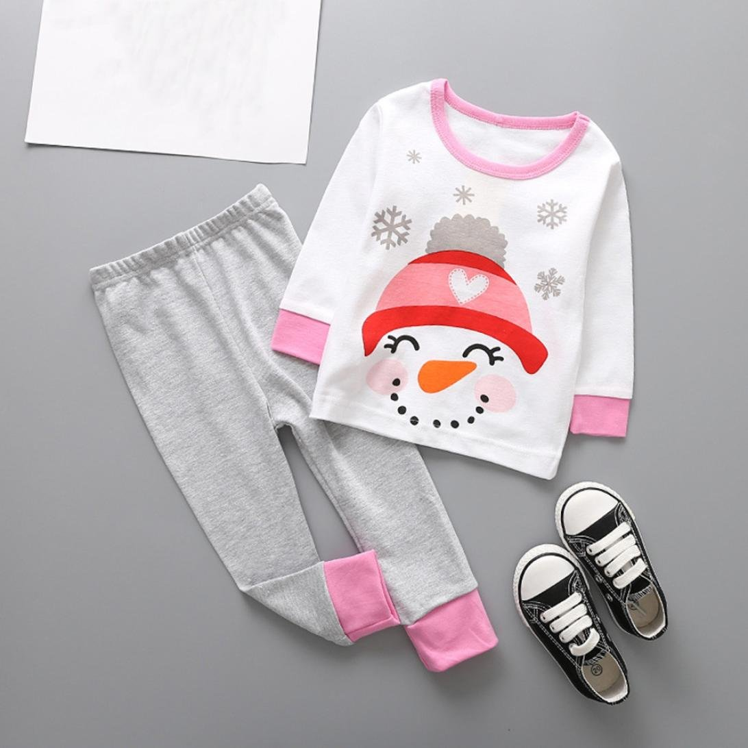a21f60c7400e Amazon.com  Vibola® Toddler Kids Baby Girl Boy Christmas Deer Outfits  Clothes  Clothing