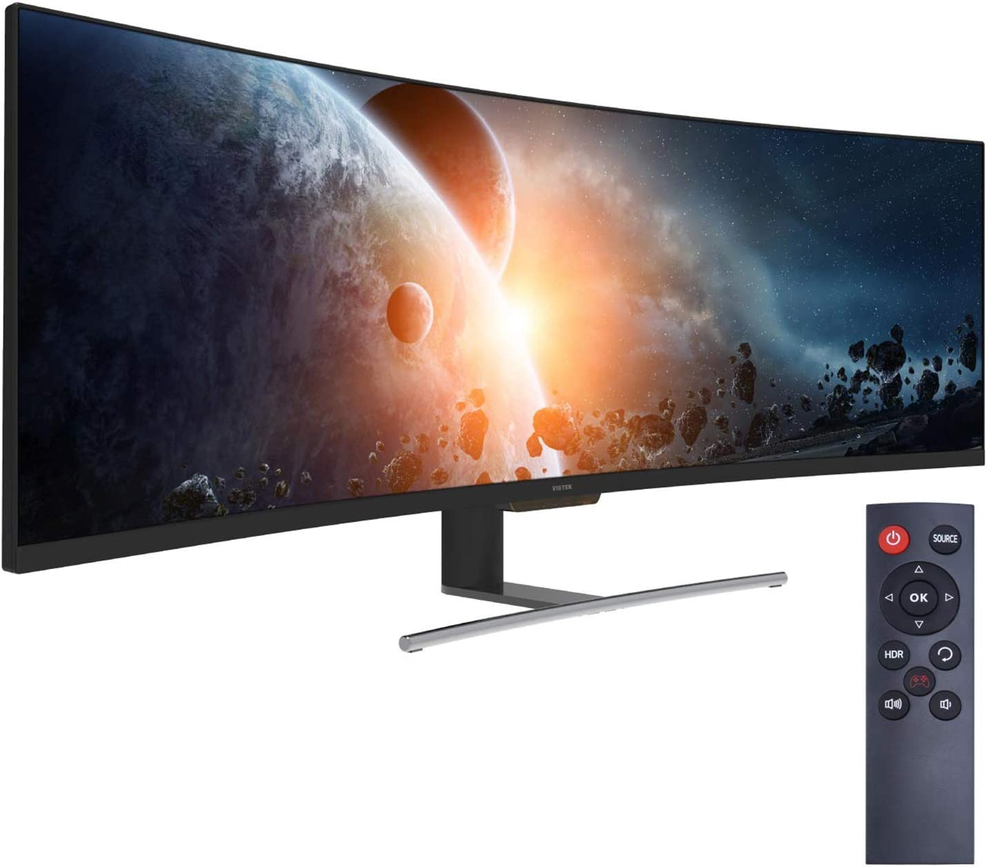 VIOTEK SUW49C 49″ (3840x1080P) 32:9, 144Hz, Ultrawide 1800R Curved Gaming Monitor