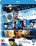 Oblivion/Battleship/Immortals/Gladiator/47 Ronin - 5 Movies Blu-ray Set