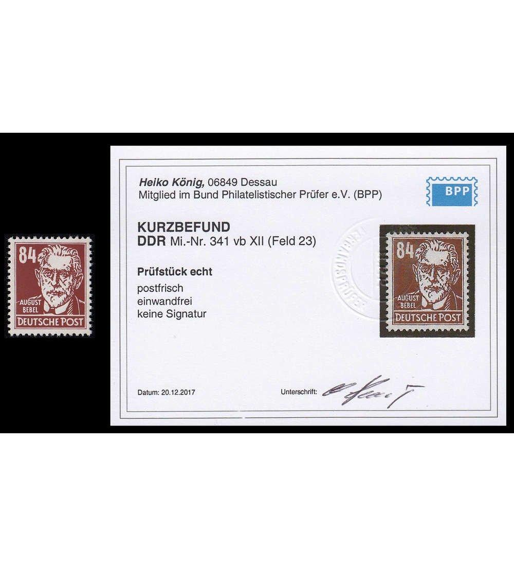 Goldhahn DDR Nr. 341b postfrisch mit Fotobefund König Briefmarken für Sammler