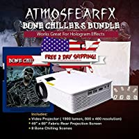 Atmosfearfx Bone Chillers Video Projector SD Card Bundle, 1900 Lumen With Built In SD Media Card Player