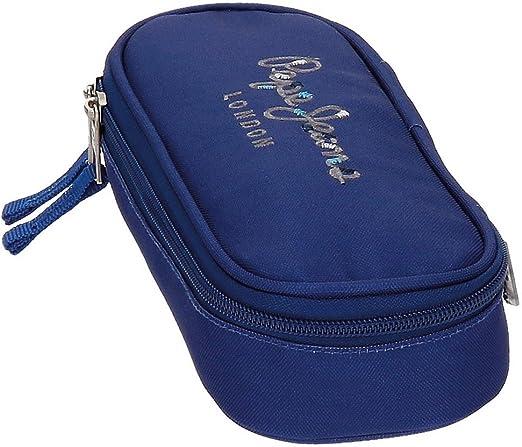 Estuche Pepe Jeans Harlow Azul Marino con organizador interior: Amazon.es: Equipaje