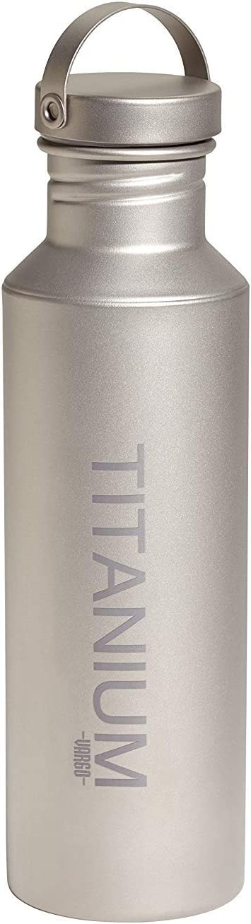Vargo Titanium Water Bottle with Titanium Lid [並行輸入品]