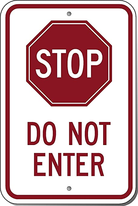 Amazoncom Dark Branches Stop Do Not Enter Sign 8 X 12 Inch Sign