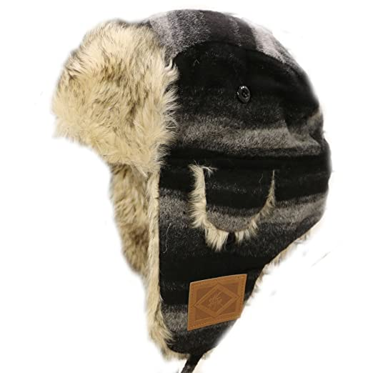 cfb357f28a2 City Hunter W300 Premium Wool Trapper Hats - Multi Colors (440 Black dark  Gray