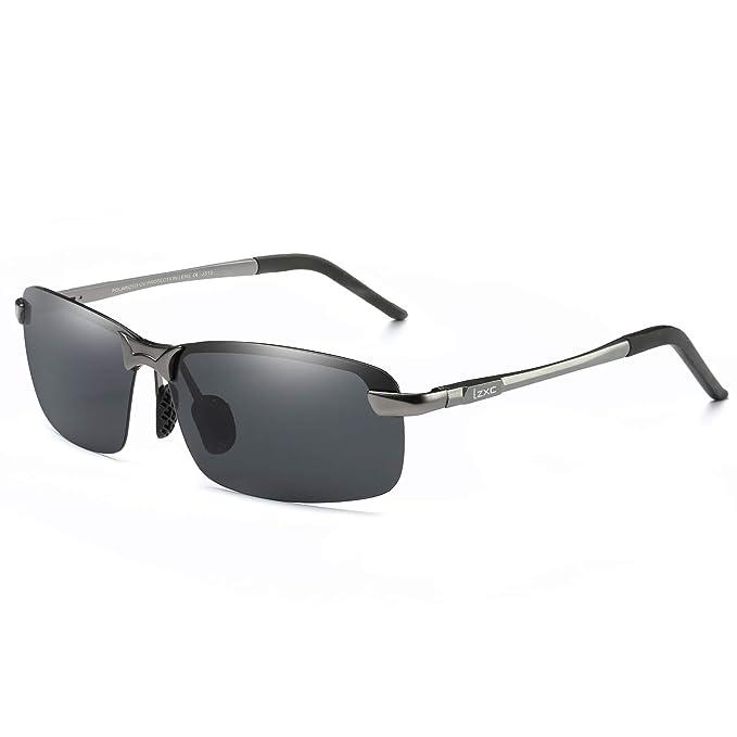 LZXC Hombres Gafas de Sol de Conducción Polarizadas Deportes ...