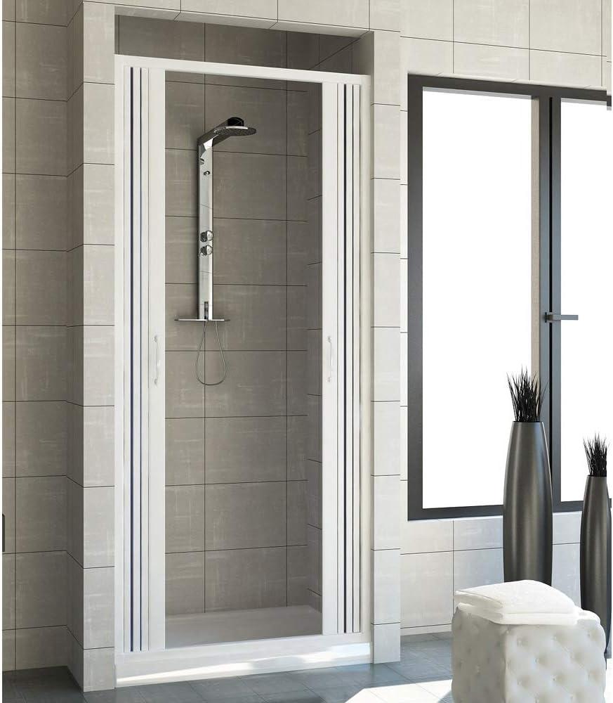 Cabina de ducha de PVC con 2 puertas regulables para baño Venere ...