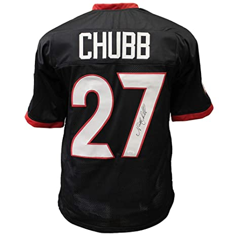 pretty nice 51ff0 5d203 Nick Chubb Georgia Bulldogs Autographed Signed Black Jersey ...
