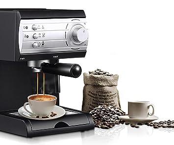 ZHAZHIJI Máquina de café, café, Helado, Semi automático, Home Office, Negro: Amazon.es: Hogar