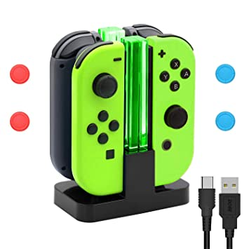Amazon.com: Base de carga para Nintendo Switch Joy-Con,4 en ...