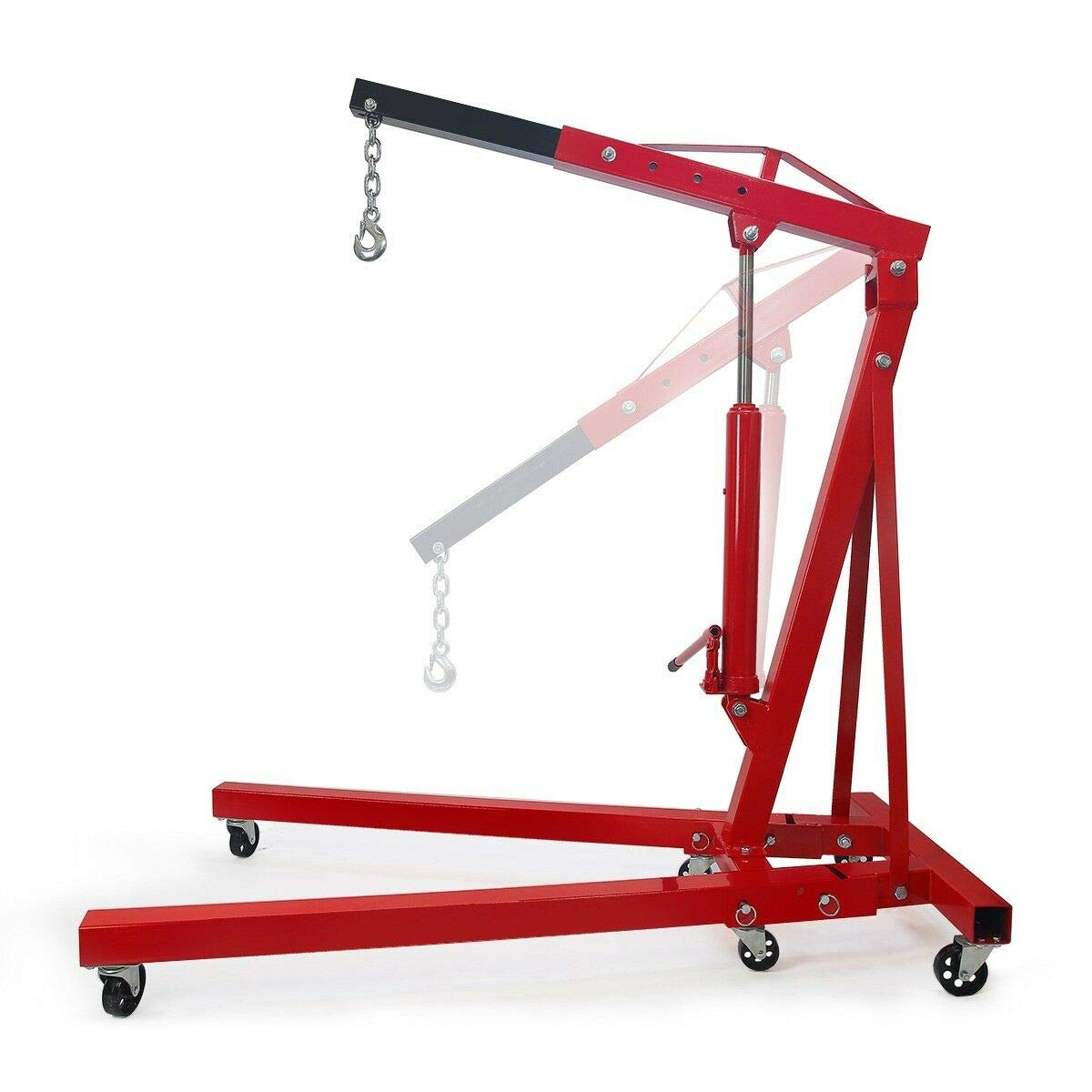 New 2 TON Engine Motor Hoist Cherry Picker Shop Crane Lift 4000 lbs Adjust 82'' to 94'', Heavy-Duty Excellent Stability for Professionals by Nice1159