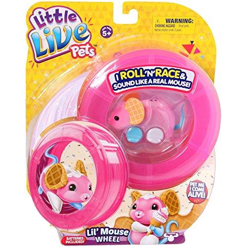 Moose Toys Little Live Pets S2 Lil' Mouse Wheel, Waffles