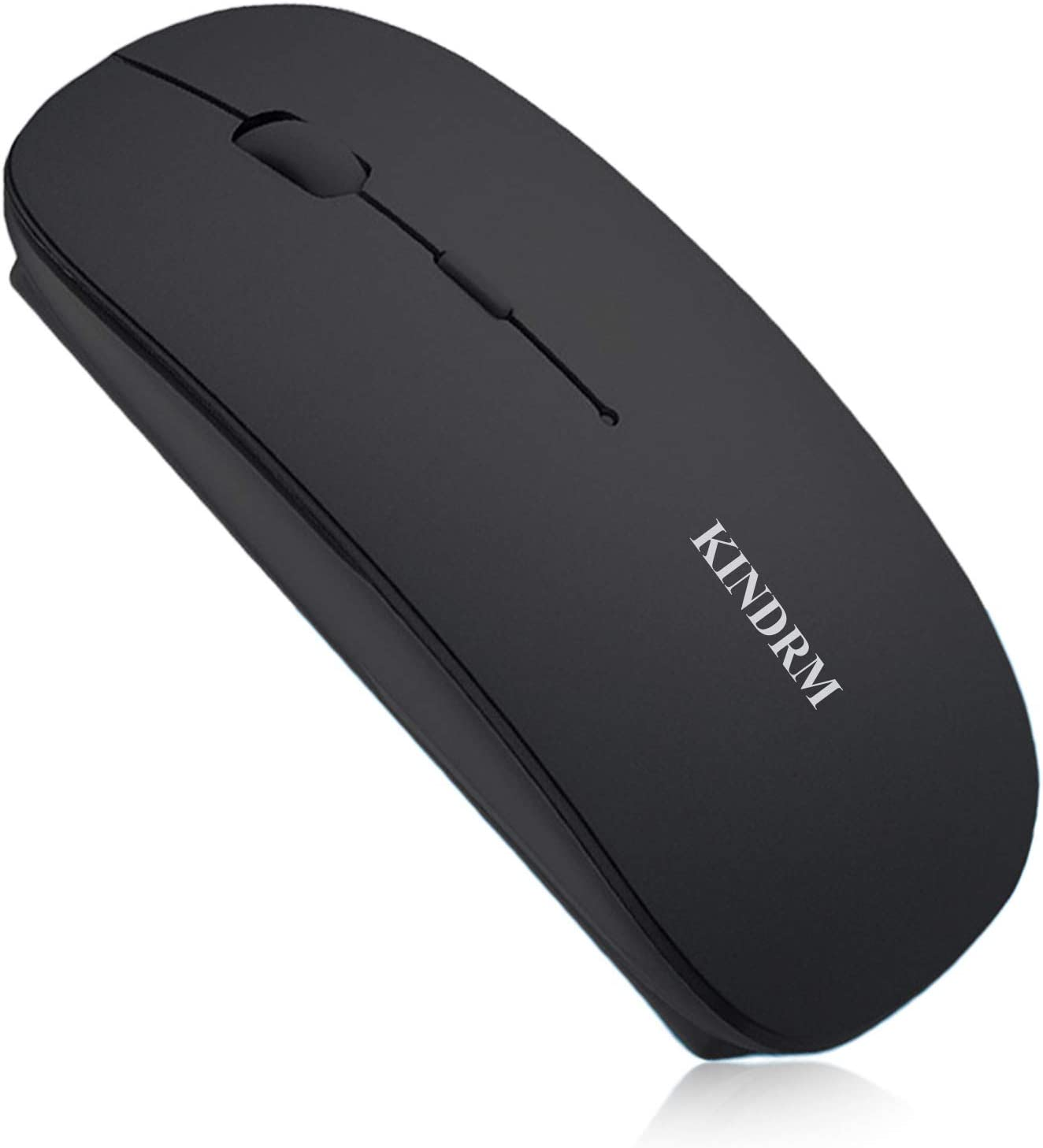 Bluetooth Wireless Mouse, KINDRM Portable Slim Dual Mode (Bluetooth 5.0 & 2.4G Wireless) Rechargeable Wireless Mouse for Laptop, Computer, MacBook, iPad, Tablet, Notebook, PC, Windows, Android More