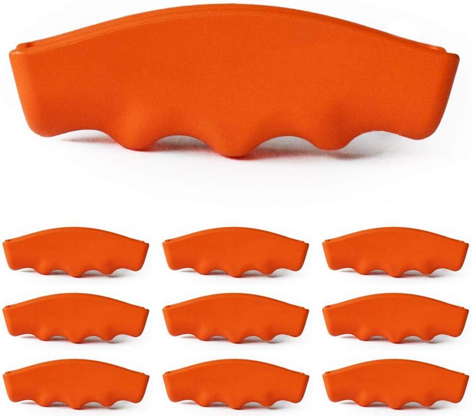 Bucket Gripper - Ergonomic Replacement Handle for 5 Gallon Buckets (10 Pack, orange)