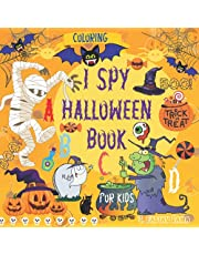 I Spy Halloween Coloring Book for Kids ages 4-8: Interactive Colouring Book I Spy the Alphabet A-Z and I Count for Boys and Girls age 4-6, 6-8 years old |Toddler, Preschool and 1-grade | Spooky, Scary Stuff. Pumpkins, Ghosts, and Much More. Gift For Kids