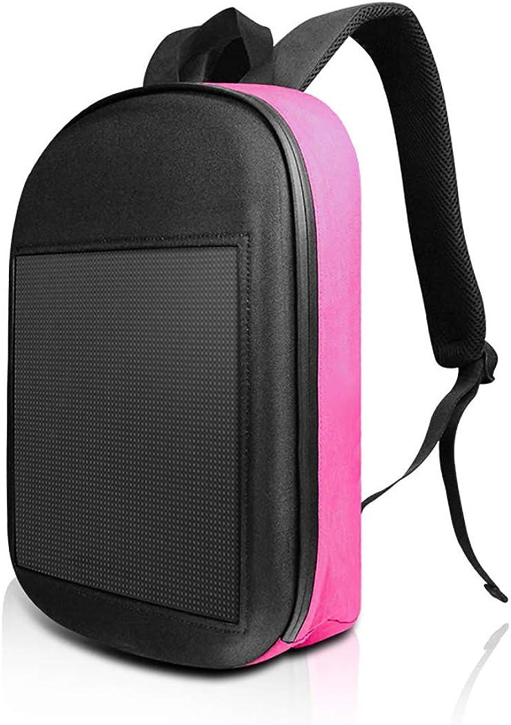 Rainbow Cloud Smart LED Backpack Fashion Black Customizable Laptop Backpack School Backpack College Bookbag