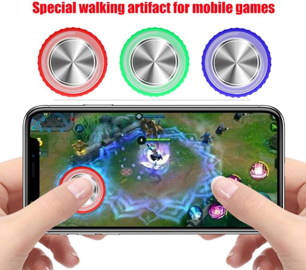Red Q9 Max Mini Round Game Joystick Button Touch Screen Controller for Phone Tablet