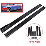 ZEEOS Universal Side Skirts Extension Rocker Panel Splitter For BMW,Mercedes Benz,AUDI,LEXUS,Infiniti,HONDA,Nissan,Toyota,Mitsubishi,Subaru,VW,Mazda,Mustang,Both Left and Right sides ABS 2M