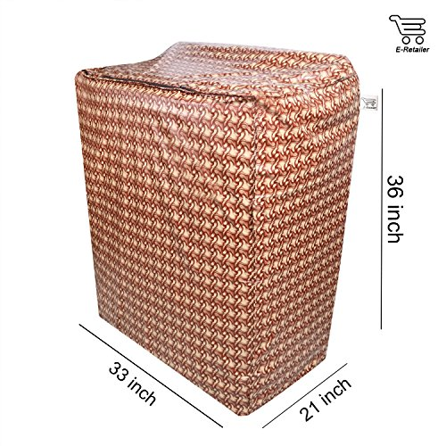 E-Retailer™ Brown Wooden Texture Design Semi-Automatic Washing Machine Cover Upto 7.5 Kg Capacity 61ZCo4%2B3FOL India 2021