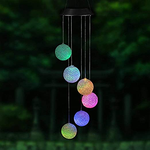 XGZ: Luces LED solares para Cambiar de Color, con energía Solar, Giratorio en Espiral, Campanilla de Viento para Exteriores, luz Decorativa para jardín, Patio, terraza, Patio: Amazon.es: Jardín