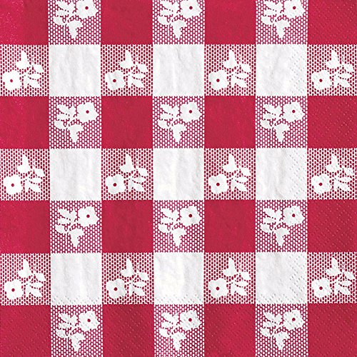 Creative Converting 50 Count Beverage Napkins, Red ()