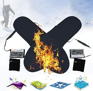 suneagle Plantilla Electrica para Esquiar,Plantillas EléCtricas USB,Tela De AlgodóN,Felpa/Suave/Delgada,Lavable/Se Puede Cortar,Trabajar por 4 Horas,Adecuado para Deportes Al Aire Libre,36-44yards: Amazon.es: Jardín