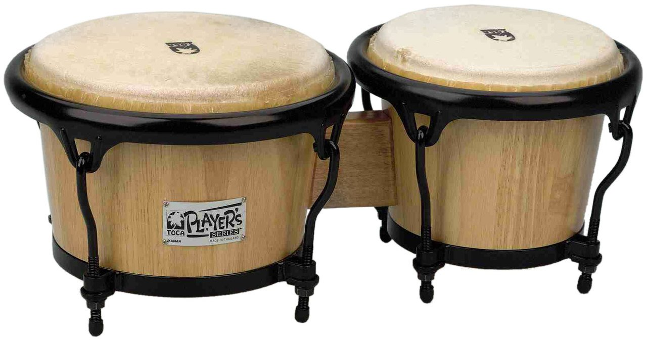 Toca 2600N Player's Series Wood Bongos - Natural Finish