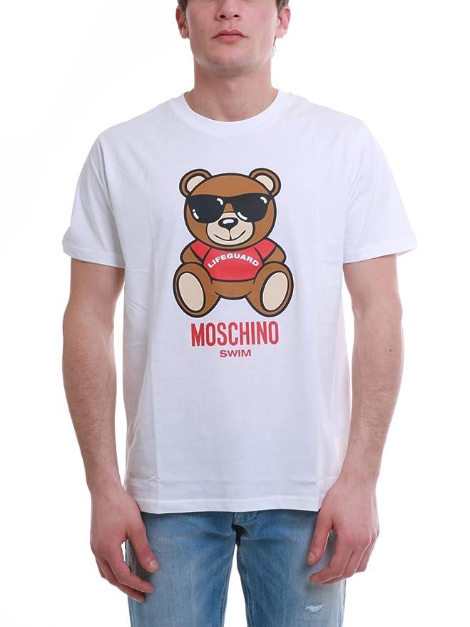 4f7de28b235a5 Moschino Men's T-Shirt White Bianco - White - X-Small: Amazon.co.uk:  Clothing