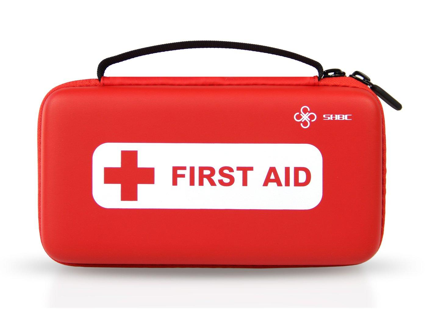 Kit compacto SHBC de primeros auxilios (152 piezas) Suministros mé dicos FDA de emergencias para el Hogar, Aire Libre, Barco, Coche, Lugar de Trabajo, Viajes, Senderismo y Escuela, Supervivencia Beyond Case